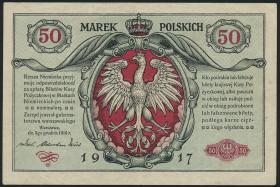 R.445: Besetzung Polen 50 Marek 1917 (3+)