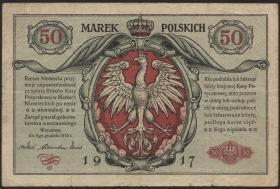 R.445: Besetzung Polen 50 Marek 1917 (3-)