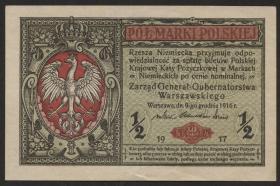 R.449: Besetzung Polen 1/2 Marki 1917 (1-)