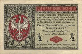 """R.449: Besetzung Polen 1/2 Marki 1917 """"General"""" (2)"""