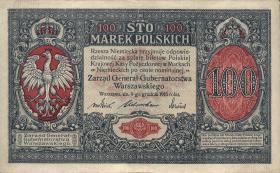 """R.455: Besetzung Polen 100 Marek 1917 """"General"""" (2)"""