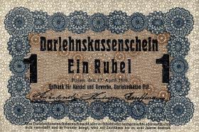 R.459d: Besetzung Russland 1 Rubel 1916 (2)
