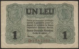 R.474a: Besetzung Rumänien 1 Leu 1917 (3)