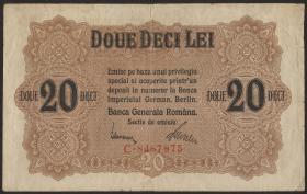 R.477: Besetzung Rumänien 20 Lei 1917 (3)