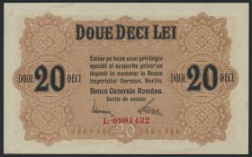 R.477: Besetzung Rumänien 20 Lei 1917 (1-)