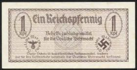 R.500 Wehrmachtsausgabe 1 Reichspfennig o.J. braun (2+)