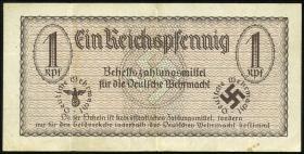 R.500: Wehrmachtsausgabe 1 Reichspfennig  o.J. braun (3)