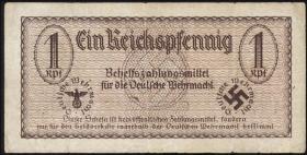 R.500: Wehrmachtsausgabe 1 Reichspfennig (1940) braun (3-)