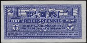 R.501b: Wehrmachtsausgabe 1 Reichspfennig weißes Papier (1)