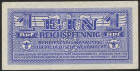 R.501b: Wehrmachtsausgabe 1 Reichspfennig weißes Papier (1/1-)