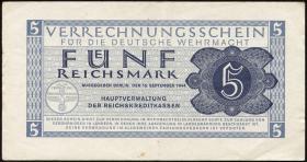 R.512: Wehrmachts-Verrechnungsschein 5 Reichsmark 1944 (3)