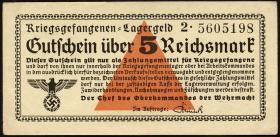 R.520b: Kriegsgefangenengeld 5 Reichsmark (1939) (2+)