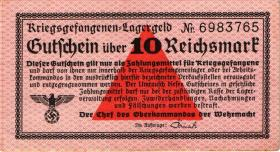 R.521a: Kriegsgefangenengeld 10 Reichsmark (1939) (3+)