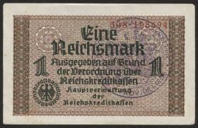 R.551e:  1 Reichsmark (1939) Belgischer Gemeindestempel (1939) (2)