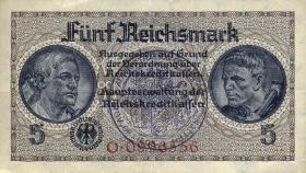 R.553e: 5 Reichsmark (1939) Bel. Gemeindestempel (3)