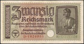 R.554a: 20 Reichsmark (1939) Reichskreditkasse (3)