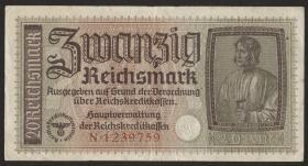 R.554a: 20 Reichsmark (1939) Reichskreditkasse (2)
