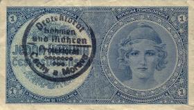 R.556a: Böhmen & Mähren 1 Krone o.D. Handstempel (3)