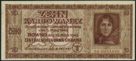 R.594: Besetzung Ukraine 10 Karbowanez 1942 (2)