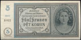 R.559a: Böhmen & Mähren 5 Kronen (1940) (1/1-)