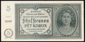 R.559a: Böhmen & Mähren 5 Kronen (1940) (2)