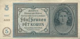R.559a: Böhmen & Mähren 5 Kronen (1940) (3)