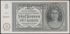 R.559b: Böhmen & Mähren 5 Kronen 1940 (1)