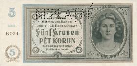 R.559c: Böhmen & Mähren 5 Kronen (1940) Neplatne (1)