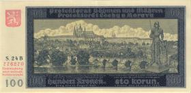 R.560a: Böhmen & Mähren 100 Kronen 1940 A (2)