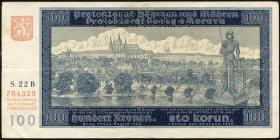 R.560b: Böhmen & Mähren 100 Kronen 1940 Specimen (3)