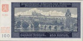 R.560d: Böhmen & Mähren 100 Kronen 1940 G II. Auflage (1)