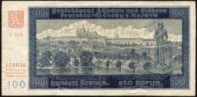 R.560d: Böhmen & Mähren 100 Kronen 1940 II. Auflage (3)