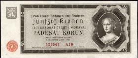 R.561a: Böhmen & Mähren 50 Kronen 1940 (2)