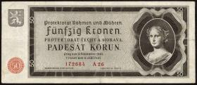 R.561a: Böhmen & Mähren 50 Kronen 1940 (3)