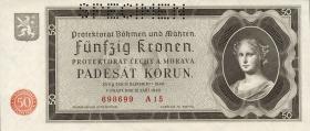 R.561b: Böhmen & Mähren 50 Kronen 1940 Specimen (1)