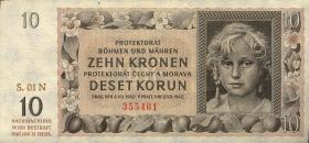 R.562a: Böhmen & Mähren 10 Kronen 1942 Serie N (3)
