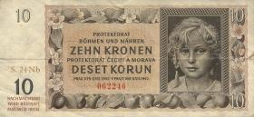 R.562d: Böhmen & Mähren 10 Kronen 1942 Nb (3)