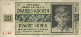 R.563a: Böhmen & Mähren 20 Kronen 1944 H (3)