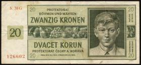 R.563d: Böhmen & Mähren 20 Kronen 1944 G (3)