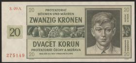 R.563g: Böhmen & Mähren 20 Kronen 1944 (1)