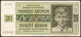 R.563g: Böhmen & Mähren 20 Kronen 1944 A (3)