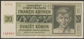 R.563h: Böhmen & Mähren 20 Kronen 1944 (1)