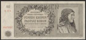 R.564b: Böhmen & Mähren 50 Kronen 1944 Specimen (1)