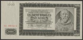 R.566h: Böhmen & Mähren 1000 Kronen 1942  (1-)