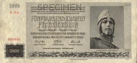 R.568b: Böhmen & Mähren 5000 Kronen 1944 Specimen (2)