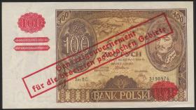 R.570a: Generalgouv. Polen 100 Zlotych 1934 (2+)