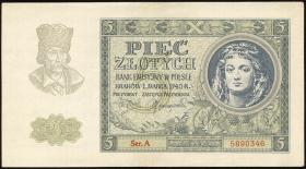 R.573: Generalgouv. Polen 5 Zlotych 1940 (2/1)