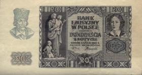R.575X: Generalgouv. Polen 20 Zlotych 1940 (2) ohne Knr.