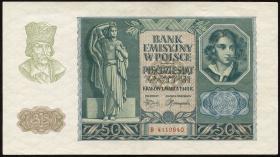 R.576: Generalgouv. Polen 50 Zloty 1940 (2+)