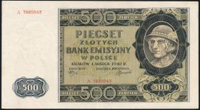 R.578: Generalgouv. Polen 500 Zlotych 1940 (2)